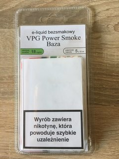 VPG БАЗА POWER SMOKE-18 ml-50 мл.(5X10)